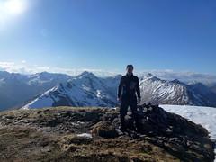 Summit Saileag (threejumps) Tags: winter mountain snow me myself scotland summit munro i saileag