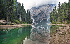 Emerald Lake (Claudio Cantonetti) Tags: 2016 nikon altoadige claudiocantonetti landscape light nature places summer travel trentino italy lake braies reflection water green dolomites woods mountains colors sunrise earth europe sudtirol september emerald peace peaceful