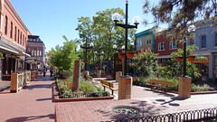Pearl Street Mall in Boulder, Colorado (lhboudreau) Tags: boulder colorado sidewalk sidewalks bench benches mall pearlstreet pearlstreetmall stores storefronts downtown shoppingdistrict tree trees outdoor outdoors people city street