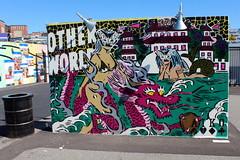 Brooklyn - Coney Art Walls: Taro Urashima and Dragon Palace by AIKO (wallyg) Tags: brooklyn coneyartwalls coneyisland kingscounty newyork newyorkcity ny nyc streetart mural aiko tarourashimaanddragonpalace ladyaiko aikonakagawa