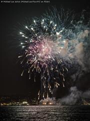 New York Fireworks - 10/6/16 (DSC09420) (Michael.Lee.Pics.NYC) Tags: newyork fireworks 2016 night newyorkharbor libertyisland reflection sony a7rm2 fe70300mmg