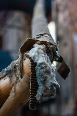 Fluffy Pipe (fidepus) Tags: ifttt 500px kaiserslautern pfaff urban exploration urbex industry industrial wool cotton pipe asbestos