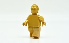 LEGO Monochrome C-3PO in Pearl Gold (Pasq67) Tags: lego minifigs minifig minifigure minifigures monochrome afol toy toys flickr legography pasq67 starwars c3po pearl gold
