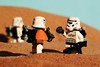 """Someone was in the pod."" (Blockaderunner) Tags: star lego stormtrooper wars tatooine sandtrooper"