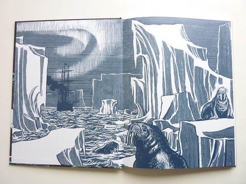 The Arctic Marauder by Jacques Tardi - endpapers
