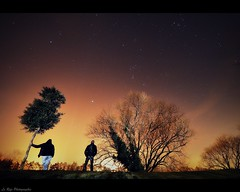 Under the Stars (Le***Refs *PHOTOGRAPHIE*) Tags: longexposure trees light nature night stars nikon silhouettes arbres orion tamron nimes nuit etoiles 1024 d90 nocture underthestars lerefs