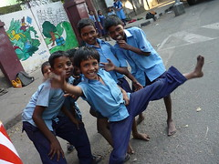 School's Out (alison will) Tags: india streetphotography schoolchildren chennai tamilnadu southindia camerawhores