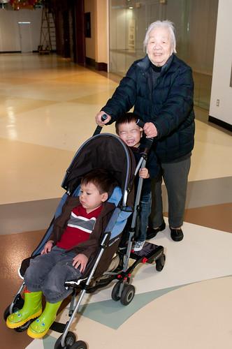 Senior Using a Stroller instead of a Walker