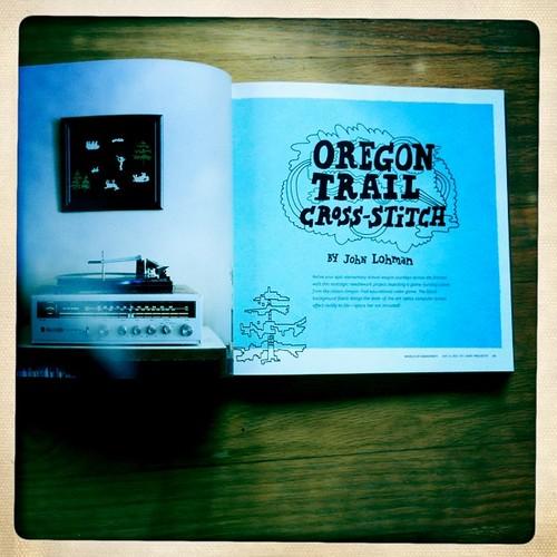 Oregon Trail Cross-Stitch by John Lohman
