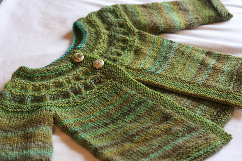 Handspun Tiny Tea Leaves Sweater
