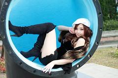 [フリー画像] 人物, 女性, アジア女性, 帽子・キャップ, 台湾人, 201105300900