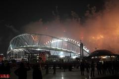 Khalifa Stadium (.:shk:.) Tags: nightphotography firework celebration afc doha qatar shk khalifastadium japanvsaustralia canoneos500d asiancup2011 shkarim sogirkarim sogskarim