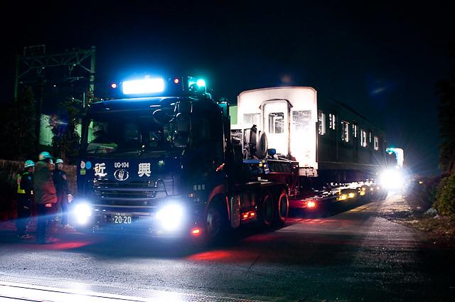 東京メトロ千代田線6000系 6115F 陸送 20110126