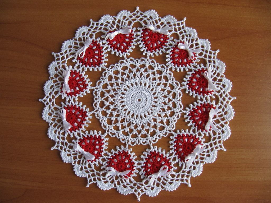 Ring of Love Doily by Diane Stone