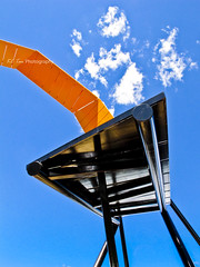 A sculpture at the National Museum of Australia... (KC Tan Photography) Tags: sculpture loop canberra rollercoaster act australiancapitalterritory nationalmuseumofaustralia actonpeninsula uluruline canong11