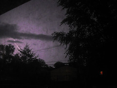 Shocked (mylifeaslynn) Tags: storm weather night bolt strike thunderstorm lightning