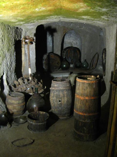 オルヴィエートの古い樽のフリー写真素材