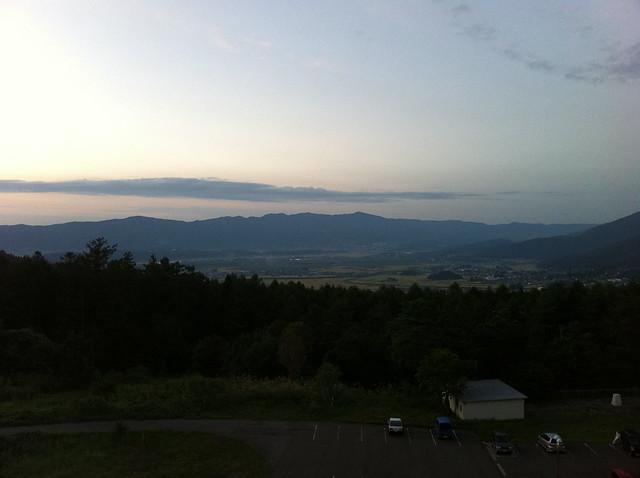 山からの全景のフリー写真素材