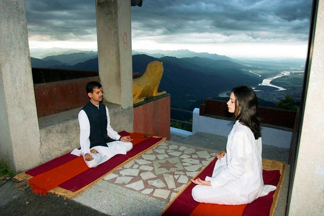 Yoga at Ananda in Himalayas