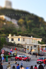 taxi to the peak () Tags: world old people signs building green forest toy hongkong miniature taxi hill crowd fake shift historic thepeak tilt slope tiltshift