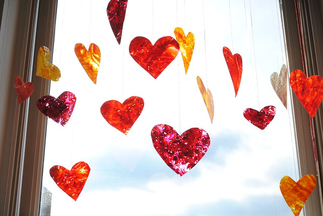 Crayon Hearts I