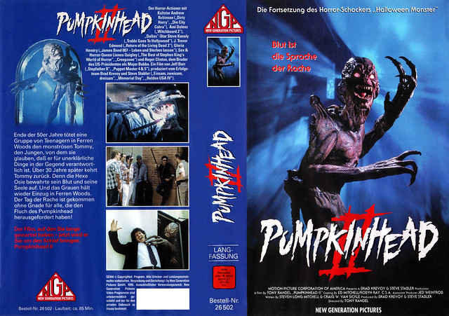 Pumpkinhead 2 (VHS Box Art)