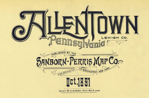 Allentown, Pennsylvania October 1891