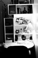 My wife decorates everything (Julio Barros) Tags: 50mm nikon desk iso400 memories hp5 f18 ilford n2020