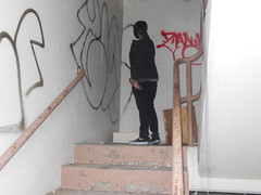 (Pastor Jim Jones) Tags: abandoned graffiti stairway hb zany cloe lcm esd plce