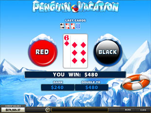 free Penguin Vacation slot gamble feature