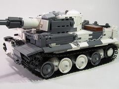 Snow Camo Tiger I Tank (PhiMa') Tags: tank lego jeep wwii ww2 axis worldwar2 wehrmacht easternfront