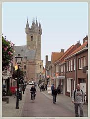 Sluis : Belfry (Pantchoa) Tags: street tower netherlands calle torre tour belfry knokke bruges rue campanario sluis zwin beffroi hollade