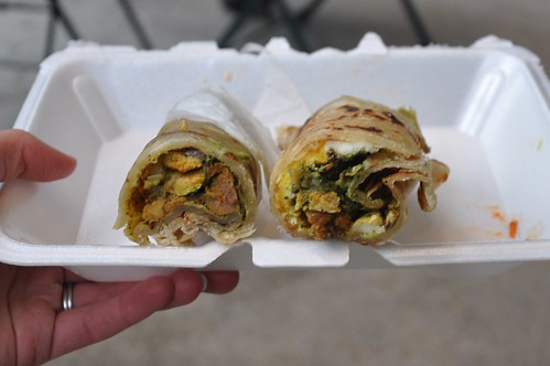 Chicken and Chicken Anda Kati Rolls from Desi Truck