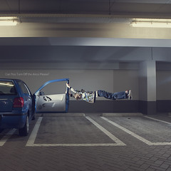 12 of 365 (Morphicx) Tags: blue car volkswagen paul flying parkinggarage garage parking levitation nephew 5d 365 polo deventer strobe 2470f28l sb24 strobist canon580exii cactusv4 morphicx 365shotsin365days
