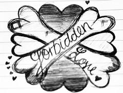 My bordem doodle! (: (Francescaaa XOX) Tags: art love dark heart forbidden crossbones