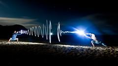 Beach Fighters_ (Rgs_) Tags: light newzealand lightpainting beach fight battle fighters abeltasman struggle abeltasmannationalpark nouvellezélande strobism nouvellezžlande removedfromstrobistpool incompletestrobistinfo seerule2 dwcfflightpaint