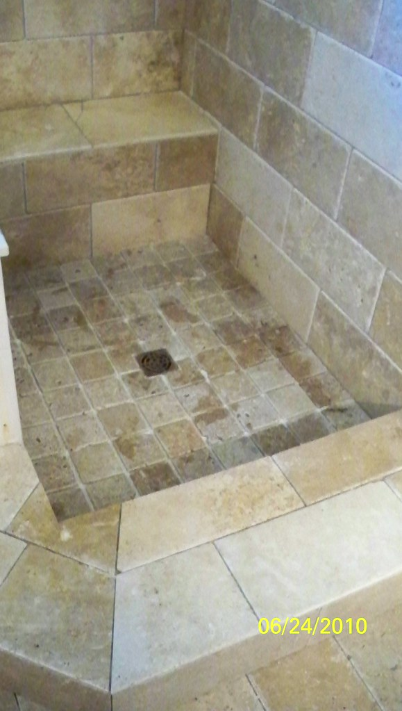 Natural Stone Shower with Schluter System