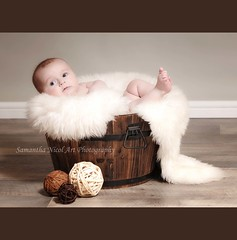 Beth (Samantha Nicol Art Photography) Tags: wood portrait baby flower cute studio nikon natural pot 200 rug samantha 70 f28 nicol