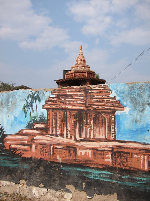 Mural and temple