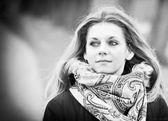 Eva (Marcel Felbor) Tags: portrait woman canon blackwhite eva 100mm 28 frau schwarzweis