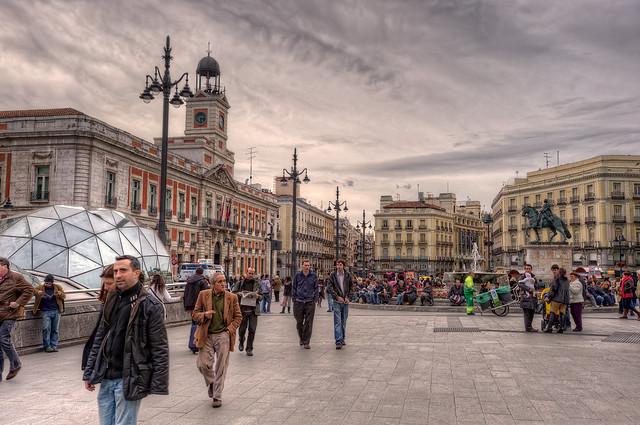 Puerta del Sol, Madrid (Spain), HDR