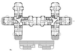 3rd Floor Plan of the Flats