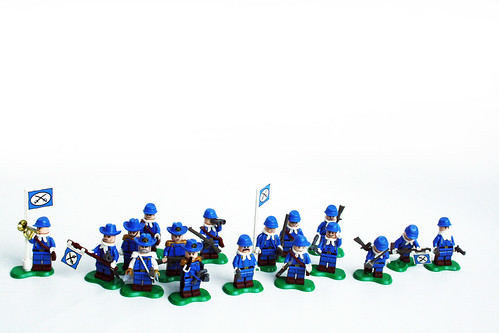 Custom minifig Northstates Troops