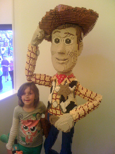 With LEGO Woody