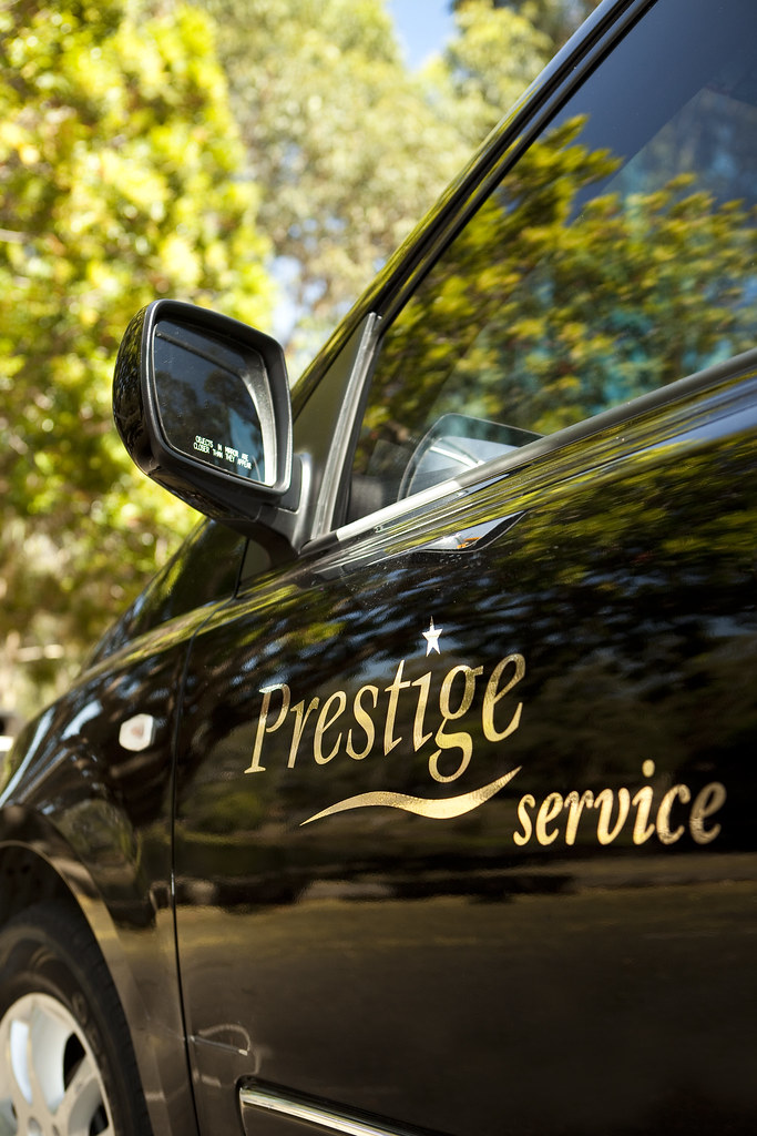 Prestige Taxi Logo On Door (Premier Cabs   Sydney Taxi Service) Tags:  Sydneytaxi