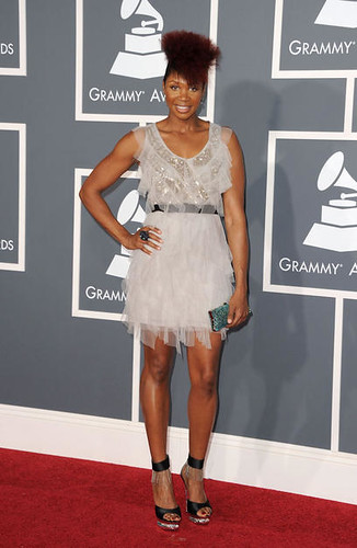 N'dambi on red carpet at 53rd Grammy Awards Show