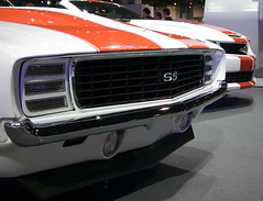 Camaro Pace Cars (faasdant) Tags: auto show orange white chicago chevrolet 1969 car official automobile place indianapolis ss stripe indy convertible camaro hidden exposition chevy pace headlight 500 mccormick 2011