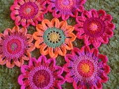 Flower hexagon camper blanket (the8thgem) Tags: flower crochet blanket hexagon colourful camper 2011