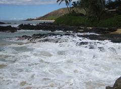 Waves Break Over Lava (stu_macgoo) Tags: hawaii lava waves maui makena makenacove