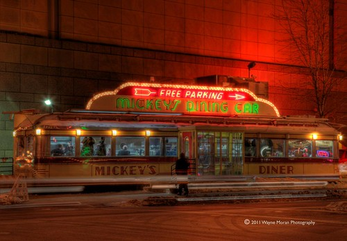Mickey's Diner in Lights